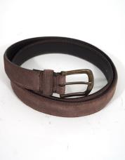 Wrangler Double Stitched Belt Brown