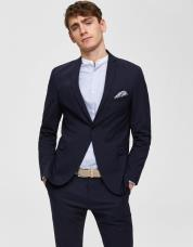 Ingen farve SELECTED - Slim fit blazer - Blå / Navy Blazer