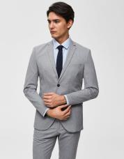 Ingen farve SELECTED - Slim fit - blazer - Grå / Light Grey Melange