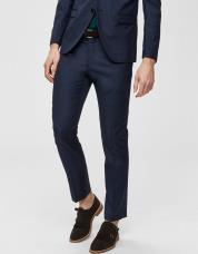Ingen farve SELECTED - Slim fit - habitbukser - Blå / Dark Blue