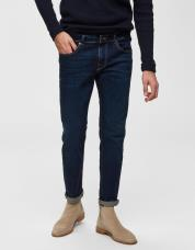 Ingen farve SELECTED - 1003 - slim fit jeans - Blå / Dark Blue Denim