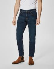 Ingen farve SELECTED - 1003 - regular fit jeans - Blå / Dark Blue Denim