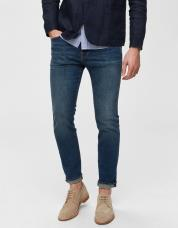 Ingen farve SELECTED - 1004 - slim fit jeans - Blå / Medium Blue Denim