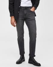 Ingen farve SELECTED - 1005 - slim fit jeans - Grå / Grey