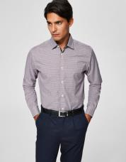 Ingen farve SELECTED - Slim fit - skjorte - Blå / Bright White