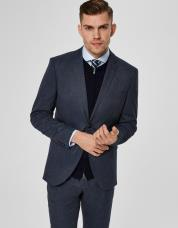 Ingen farve SELECTED - Slim fit - blazer - Blå / Dark Navy