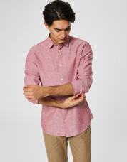 Ingen farve SELECTED - Slim fit - skjorte - Rød / Brick Red