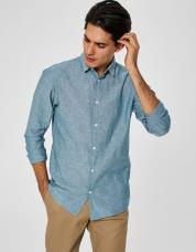 Ingen farve SELECTED - Slim fit - skjorte - Blå / Deep Teal