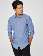 Ingen farve SELECTED - Slim fit - skjorte - Blå / Medium Blue Denim