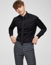 Ingen farve SELECTED - Slim fit - skjorte - Sort / Black
