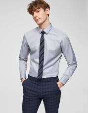 Ingen farve SELECTED - Slim fit - skjorte - Grå / Grey Melange