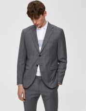 Ingen farve SELECTED - Slim fit - blazer - Grå / Grey