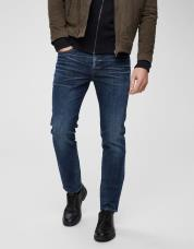 Ingen farve SELECTED - 6144 - slim fit jeans - Blå / Dark Blue Denim