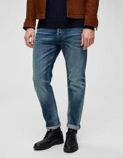 Ingen farve SELECTED - 6146 - tapered fit jeans - Blå / Medium Blue Denim